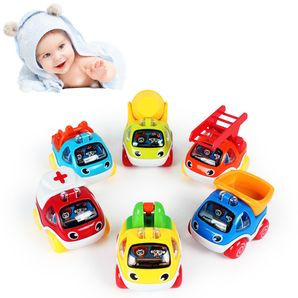 LUKAT Pull Back Cars Toys for 1 2 3 year old Baby Mini ...